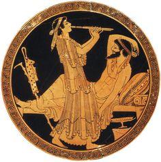 An ancient Greek depiction of Kalypso