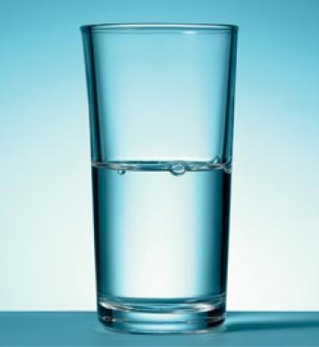 Do you see the glass as being half full or half empty?