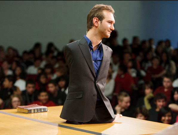 Nick Vujicic was born with no arms and no legs